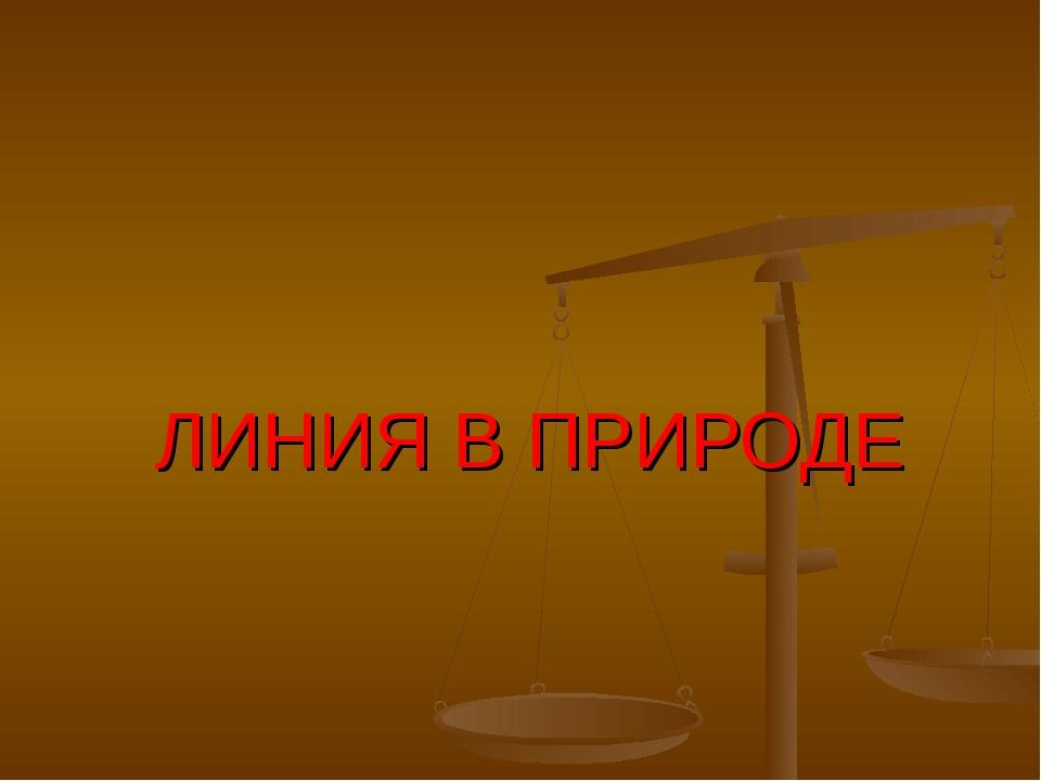 ЛИНИЯ В ПРИРОДЕ