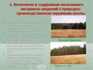1. Включение в содержание излагаемого материала сведений о природно-производс
