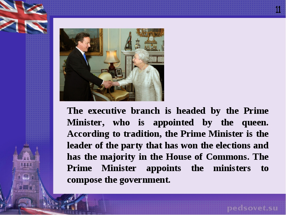 The executive branch is headed by the Prime Minister, who is appointed by the...