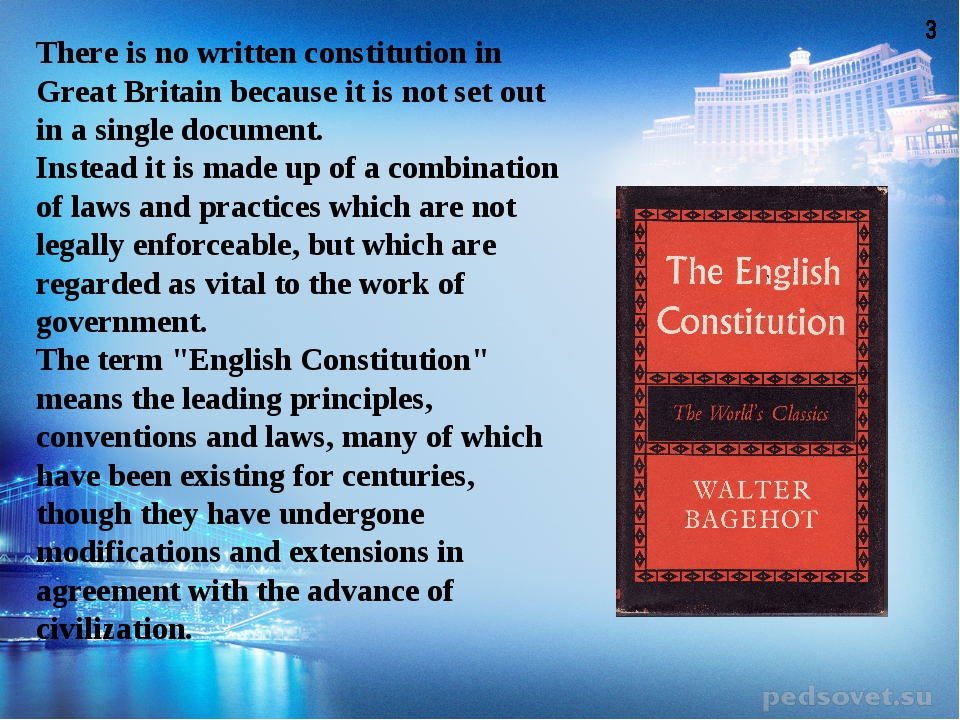 There is no written constitution in Great Britain because it is not set out i...