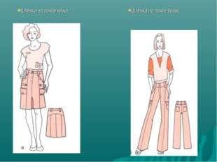 Шлёвка на поясе юбки Шлёвка на поясе брюк