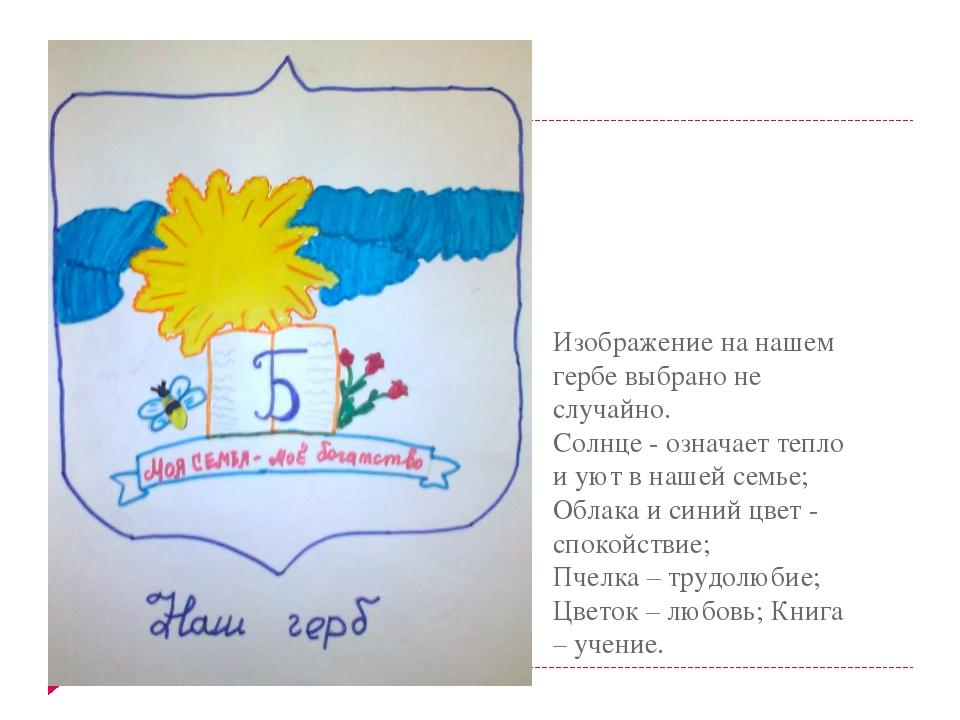 Изображение на нашем гербе выбрано не случайно. Солнце - означает тепло и ую...