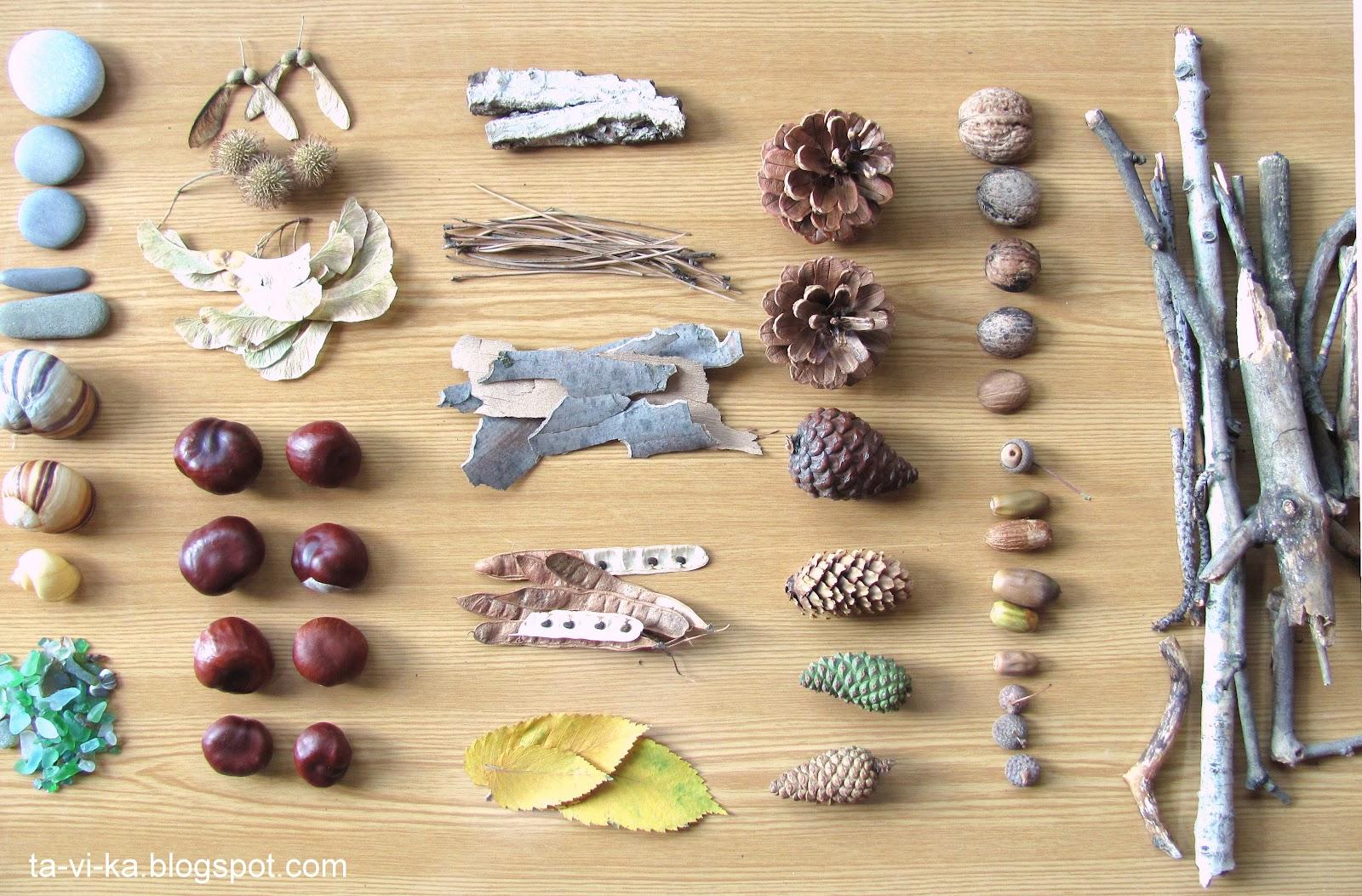 Подёлки из природных материалов