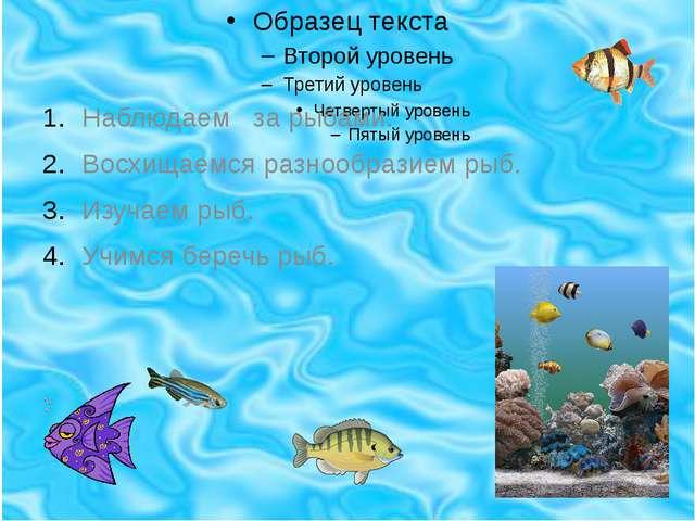 Наблюдаем за рыбами. Восхищаемся разнообразием рыб. Изучаем рыб. Учимся бере...
