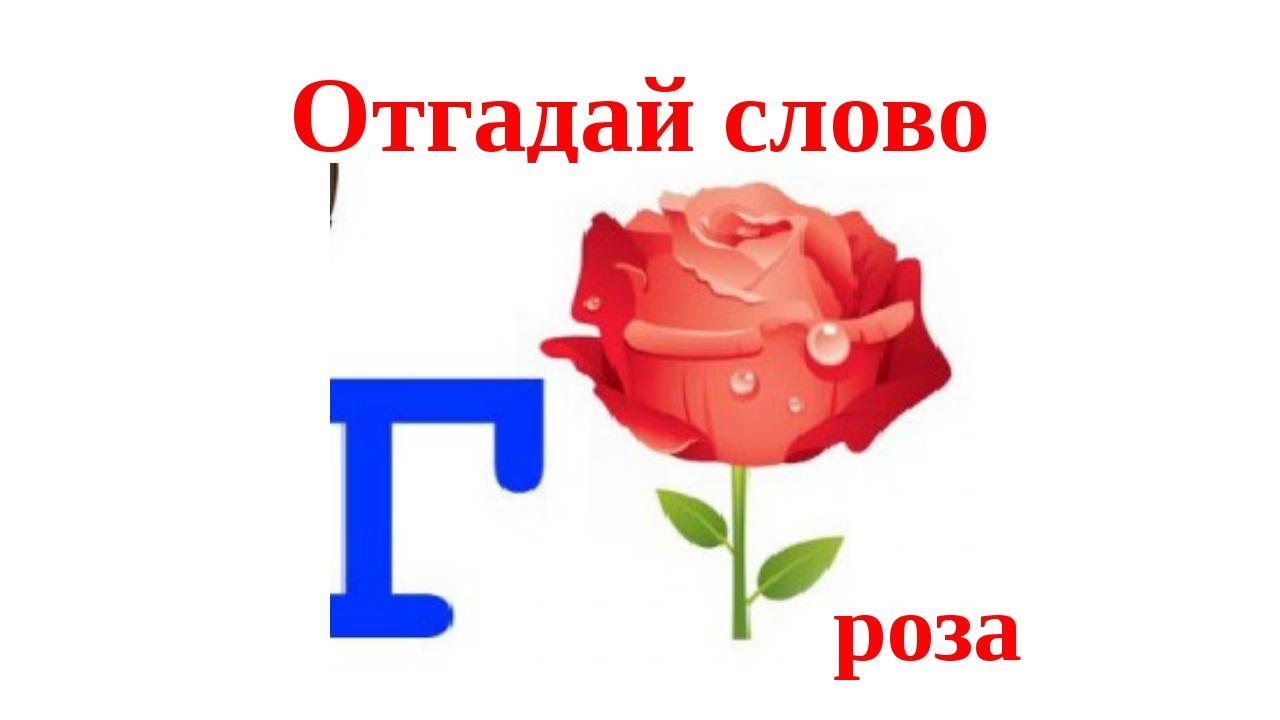 Отгадай слово роза