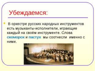Убеждаемся: В оркестре русских народных инструментов есть музыканты-исполните