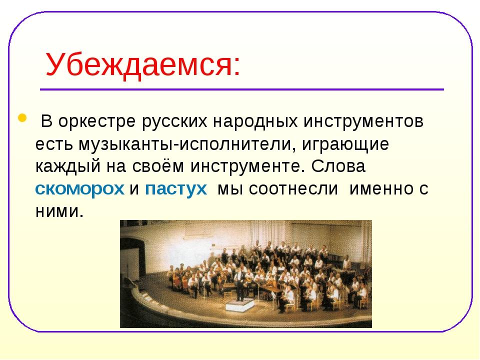 Убеждаемся: В оркестре русских народных инструментов есть музыканты-исполните...
