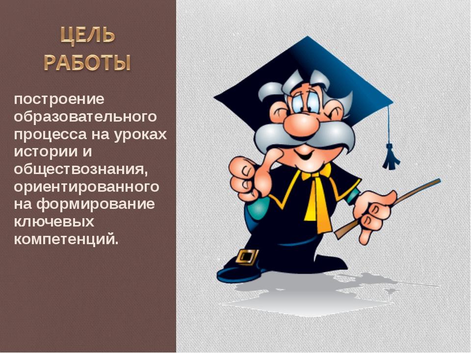 построение образовательного процесса на уроках истории и обществознания, орие...