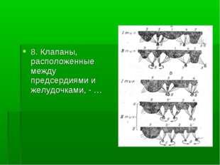 8. Клапаны, расположенные между предсердиями и желудочками, - …