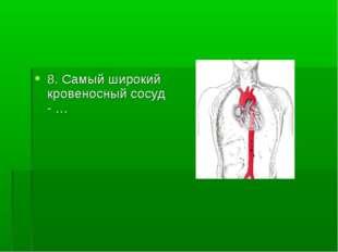 8. Самый широкий кровеносный сосуд - …