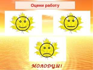Оцени работу МОЛОДЦЫ!