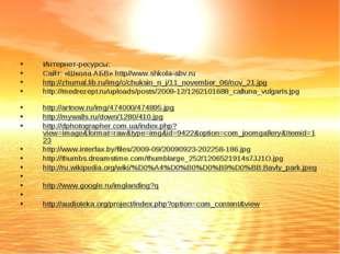 Интернет-ресурсы: Сайт: «Школа АБВ» http//www.shkola-abv.ru http://zhurnal.li