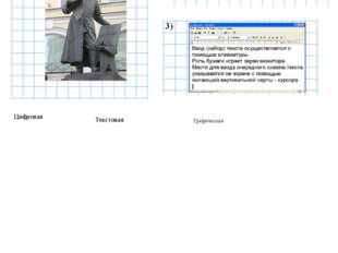Графическая Цифровая Текстовая Определите формы представления информации
