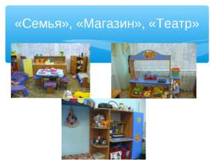 «Семья», «Магазин», «Театр»