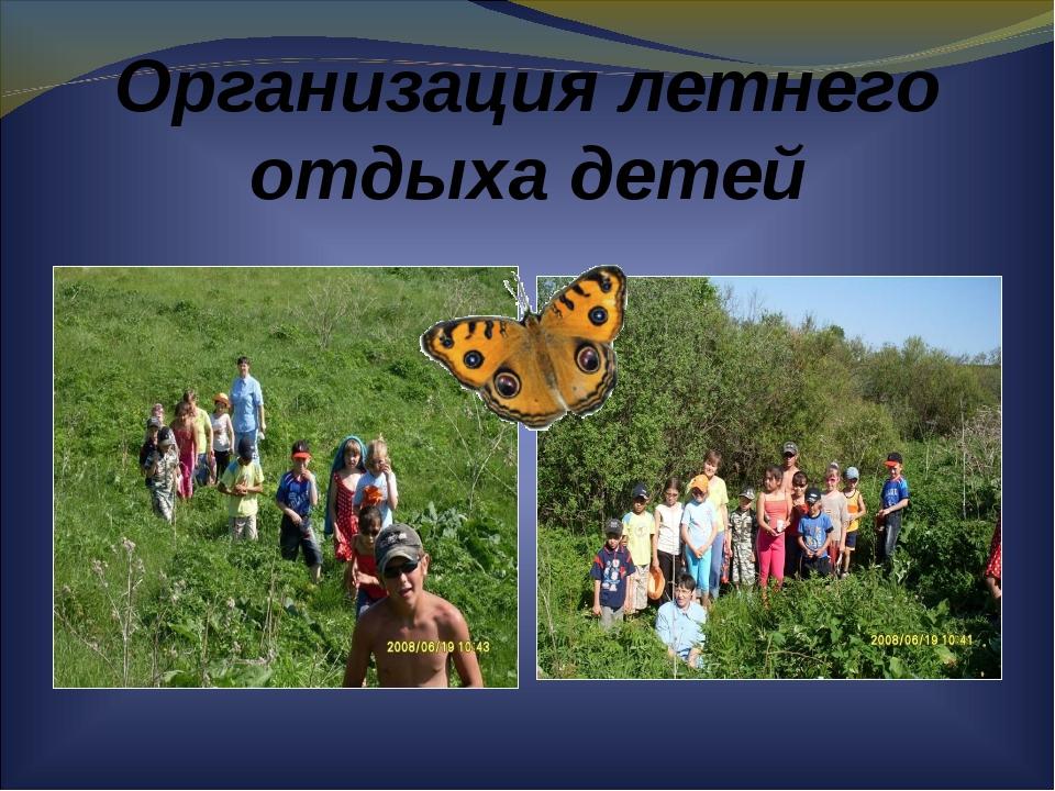 Организация летнего отдыха детей