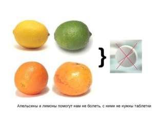 } Апельсины и лимоны помогут нам не болеть, с ними не нужны таблетки