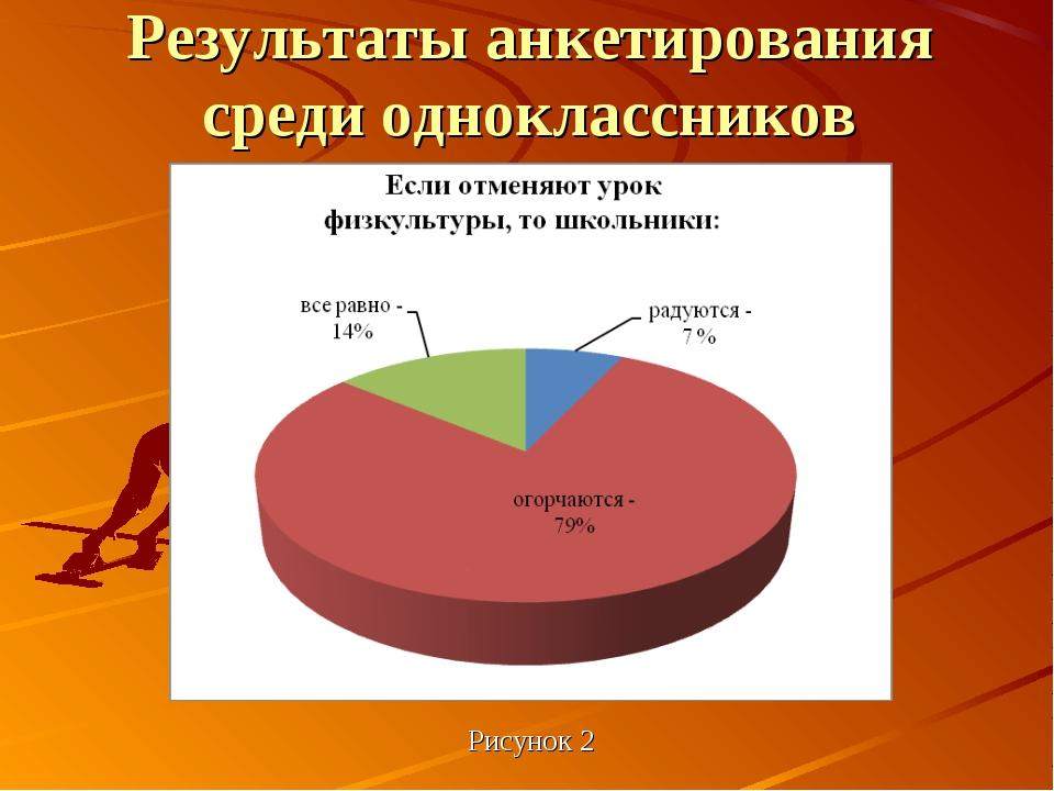 Рисунок 2 Результаты анкетирования среди одноклассников