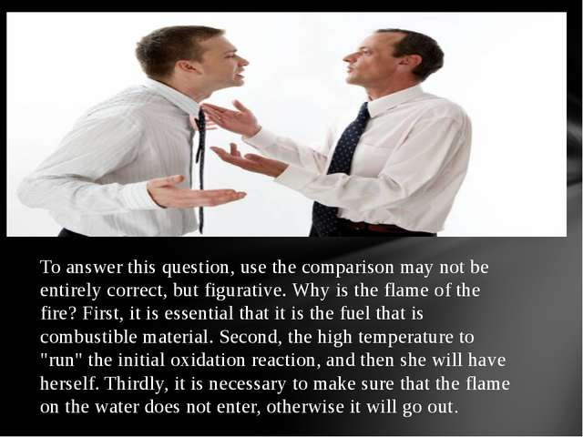 To answer this question, use the comparison may not be entirely correct, but...