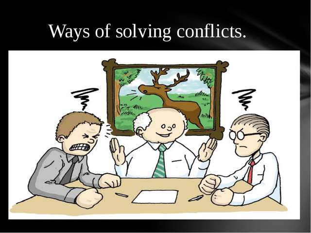 Ways of solving conflicts.