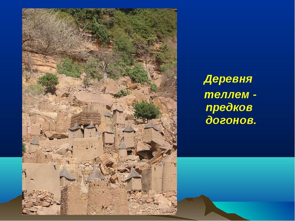Деревня теллем - предков догонов.