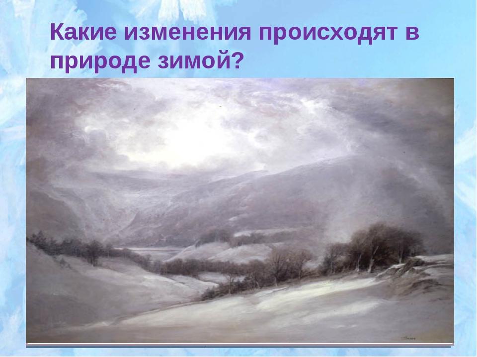 Какие изменения происходят в природе зимой?