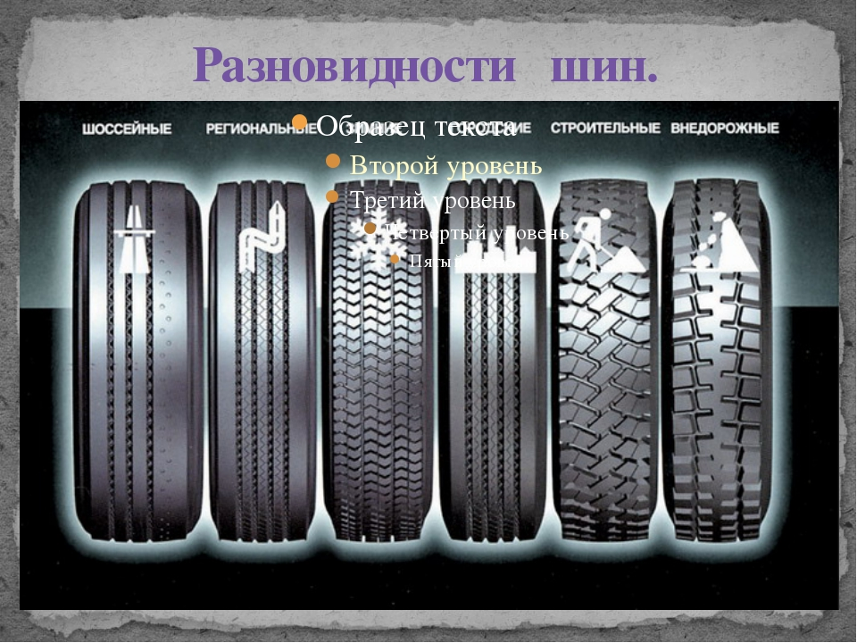 Разновидности шин.