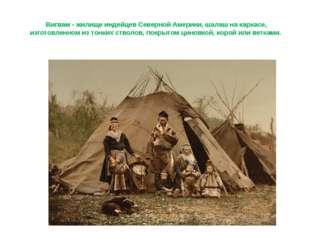 Вигвам - жилище индейцев Северной Америки, шалаш на каркасе, изготовленном из