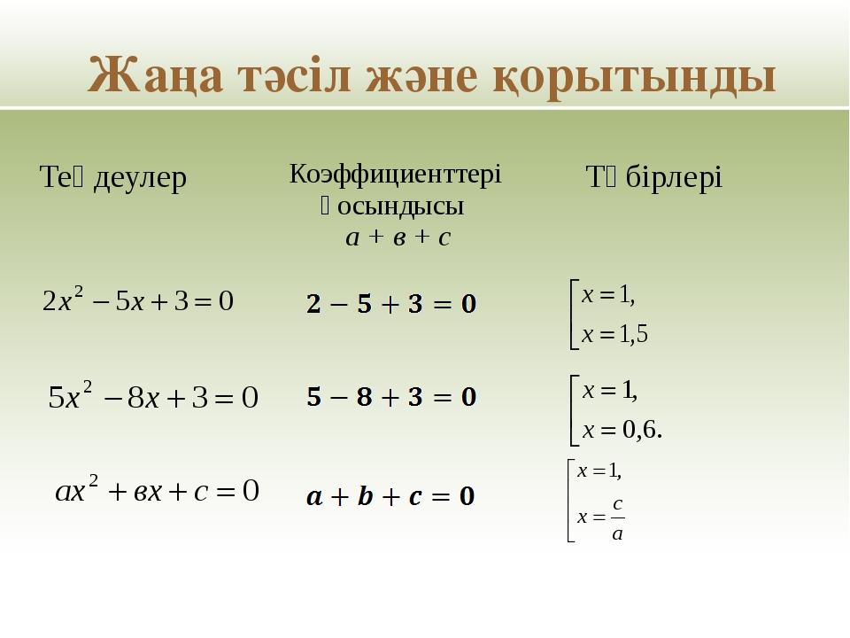 Ауызша есептеңдер: