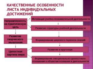 Направленность на практическую цель Развитие и кругозора Целостная картина ми