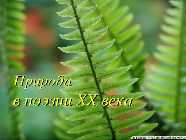 Природа в поэзии XX века { admin - null