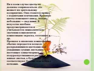 Ни в коем случае цветы не должны соприкасаться: это мешает их зрительному вос