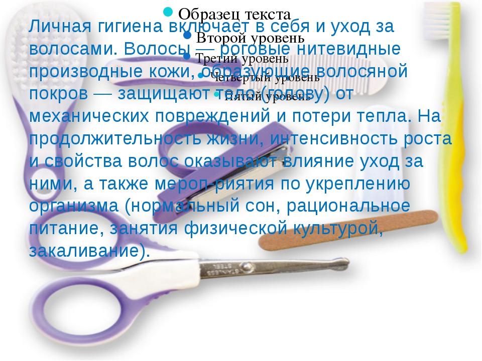 Личная гигиена включает в себя и уход за волосами. Волосы — роговые нитевидны...