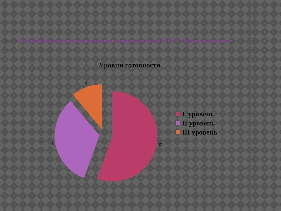 Итоги фронтальной оценки уровня готовности детей МБОУ Чулымский лицей