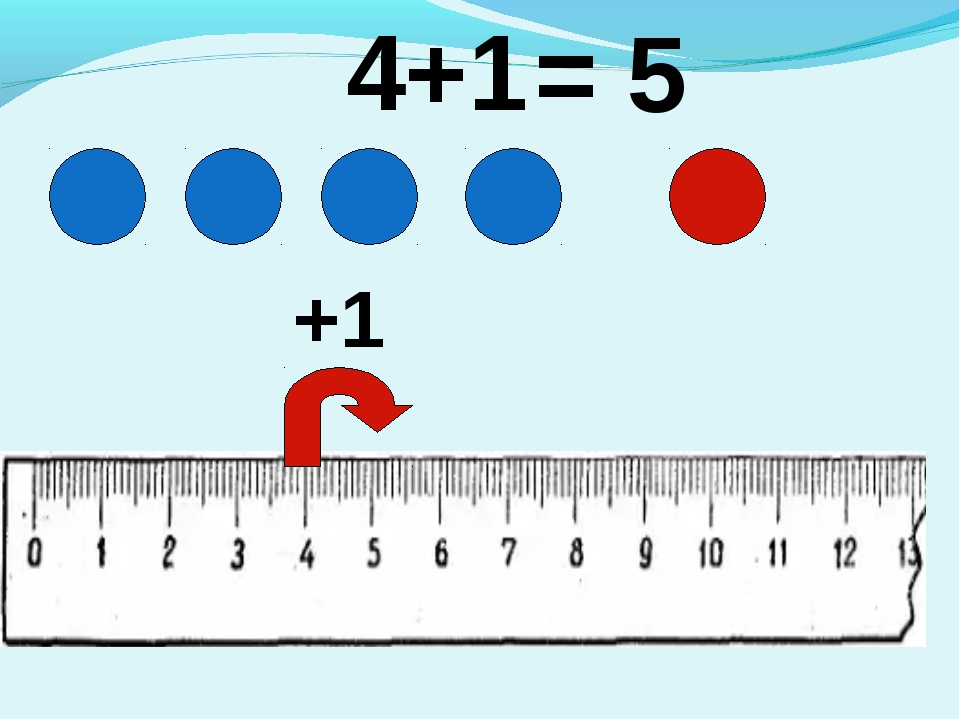 4+1 = 5 +1