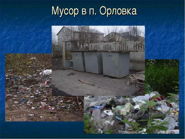 Мусор в п. Орловка