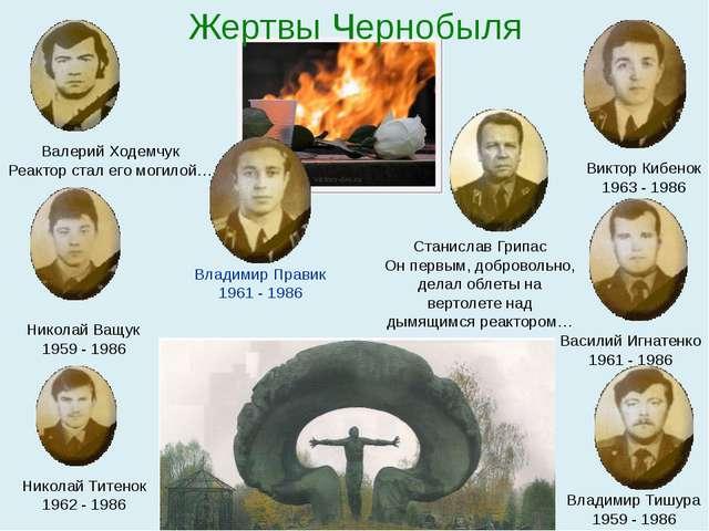 Валерий Ходемчук Реактор стал его могилой… Владимир Правик 1961 - 1986 Виктор...