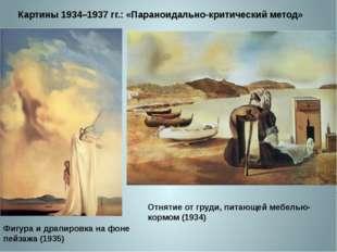 Картины 1934–1937 гг.: «Параноидально-критический метод» Фигура и драпировка