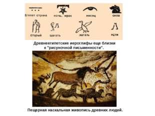 """Древнеегипетские иероглифы еще близки к """"рисуночной письменности"""". Пещерная н"""