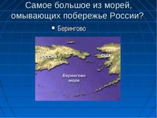 Самое большое из морей, омывающих побережье России? Берингово