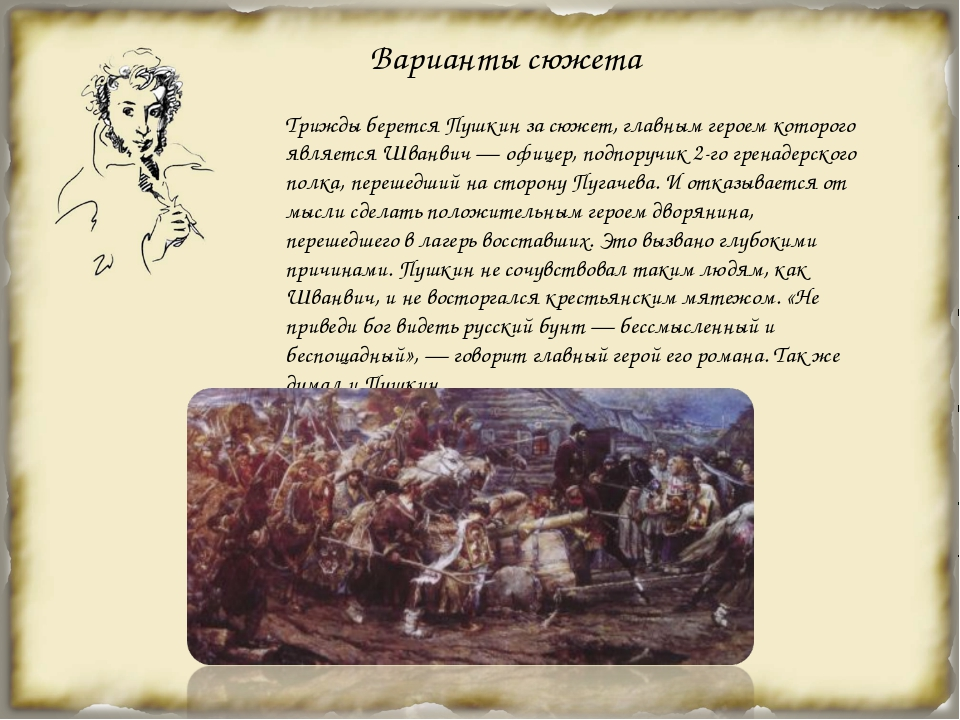 Варианты сюжета Трижды берется Пушкин за сюжет, главным героем которого явля...