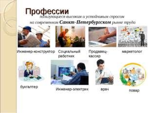 Профессии Инженер-конструктор Социальный работник бухгалтер повар маркетолог