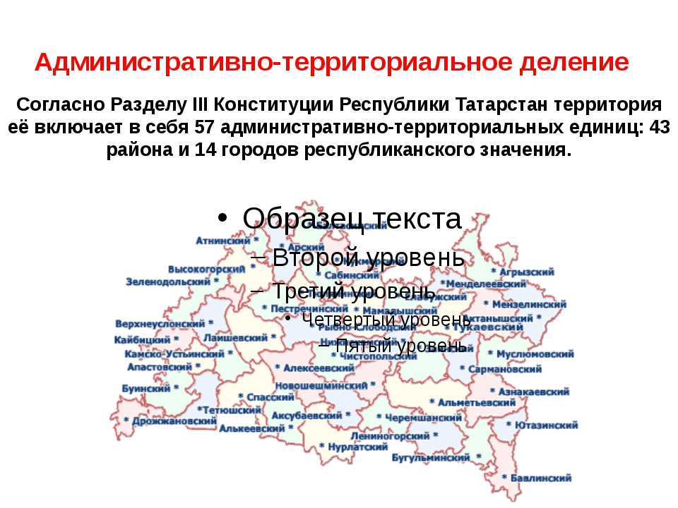 Административно-территориальное деление Согласно Разделу III Конституции Респ...