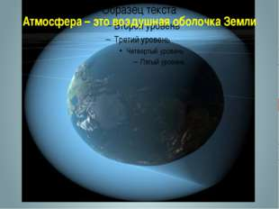 Атмосфера – это воздушная оболочка Земли