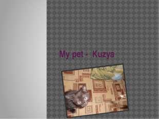 My pet - Kuzya