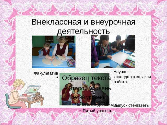 Внеклассная и внеурочная деятельность Факультатив Научно-исследоватедьская ра...