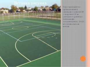 Игра проходит на прямоугольной площадке длиной 28 и шириной 15 м (раньше ее р