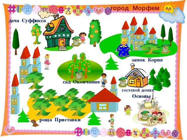 http://aida.ucoz.ru дача Суффикса сад Окончания роща Приставки замок Корня г...