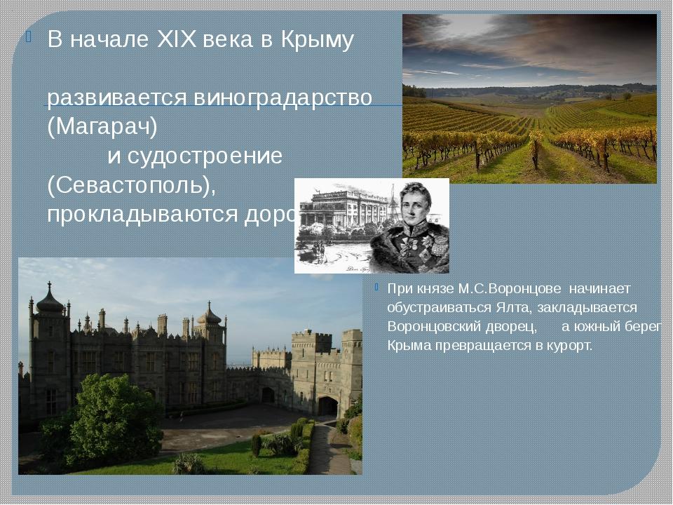 При князе М.С.Воронцове начинает обустраиваться Ялта, закладывается Воронцовс...