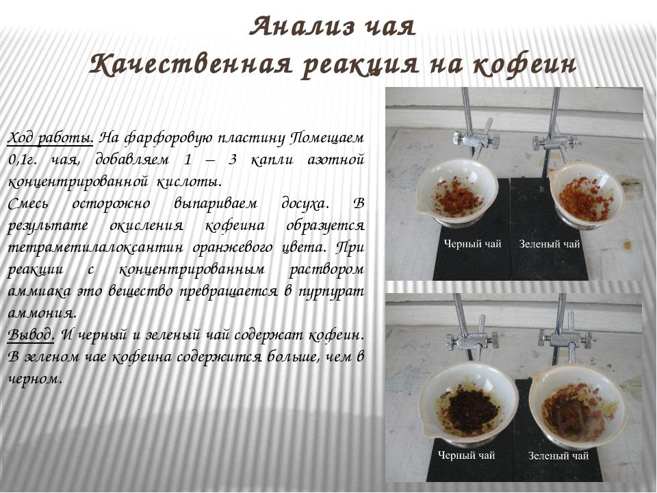 Кофеин в черном чая