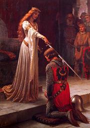 Эдмунд Лейтон. «Посвящение в рыцари» (1901). Холст, масло.